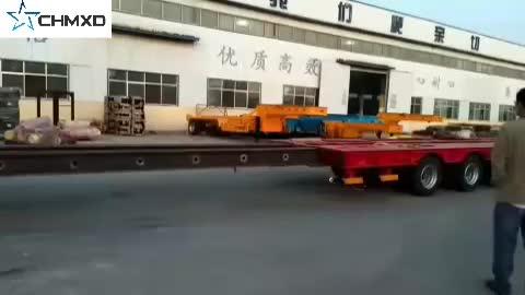 Heavy Duty พิเศษหลายเพลา lowbed Semi trailer สำหรับขาย
