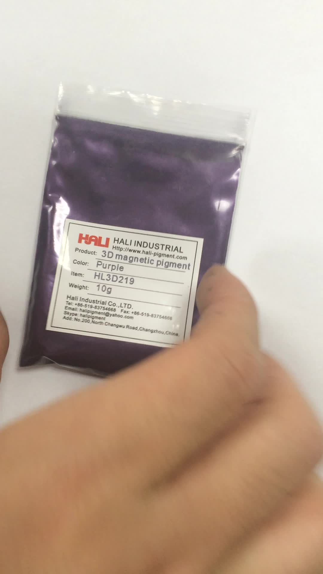 stereoscopic pigment,cat eye magnetic powder,3d effect,item:HL3D219,color:purple