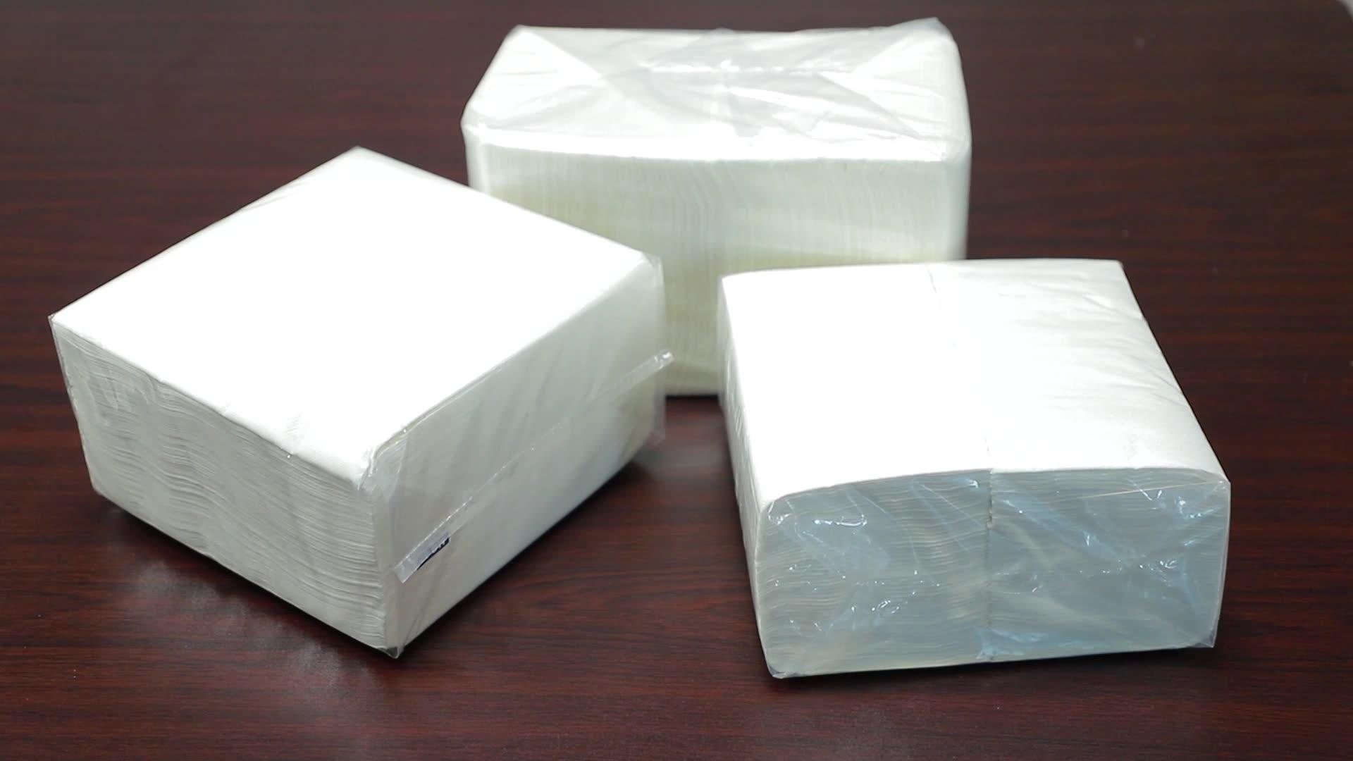 Serviette en papier matelassé, distributeur marron, moustique, 50 pièces