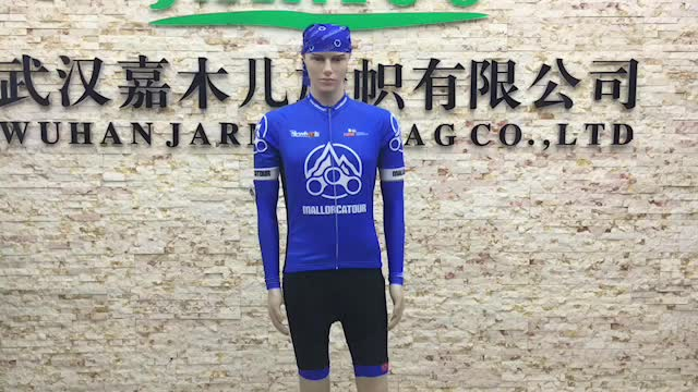 Ride King Fashionable Sublimation Long Set Cycling Jersey And Pants Set