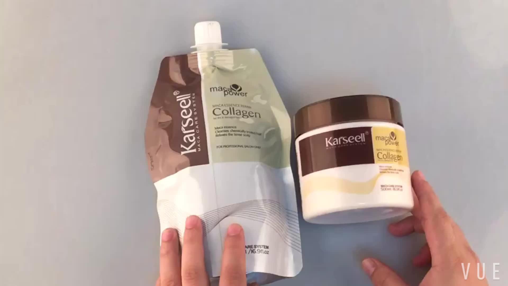 Karseell arganolie collageen haarmasker bio eiwit keratine haar behandeling crème