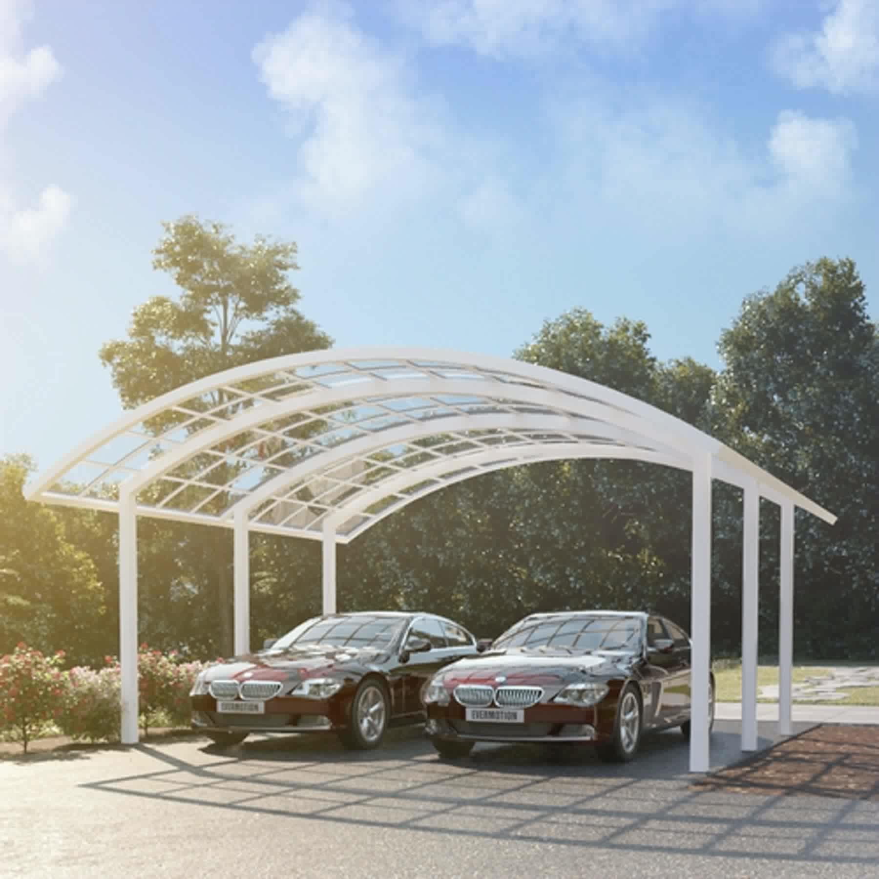Plastic sunroom aluminium car sun shade sun carport shade
