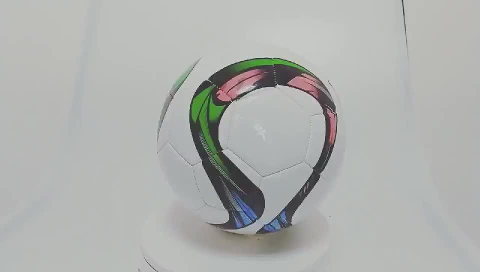 2019 nieuwe Hoge kwaliteit PU leer hand gestikt voetbal