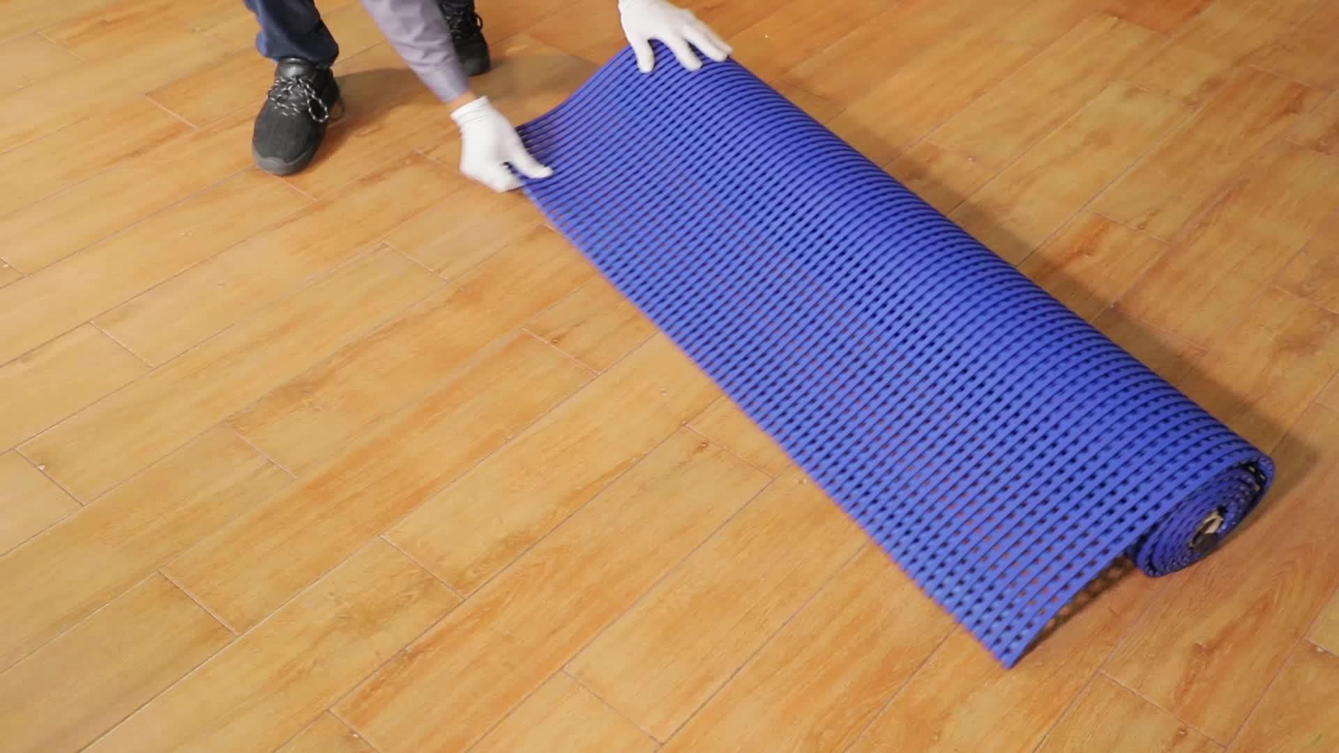 Foshan fabriek chemische slip plastic floor non slip mesh mat voor badkamer