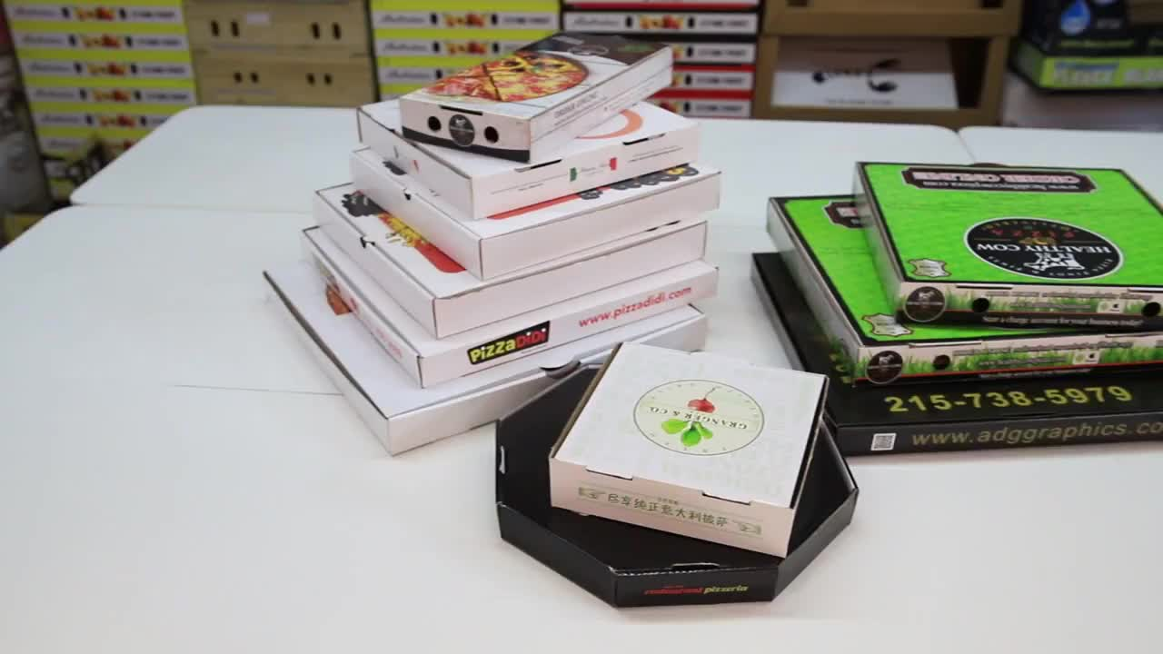 Recycled Black White Paper Box Pizza/Candy/Cake Paper Box