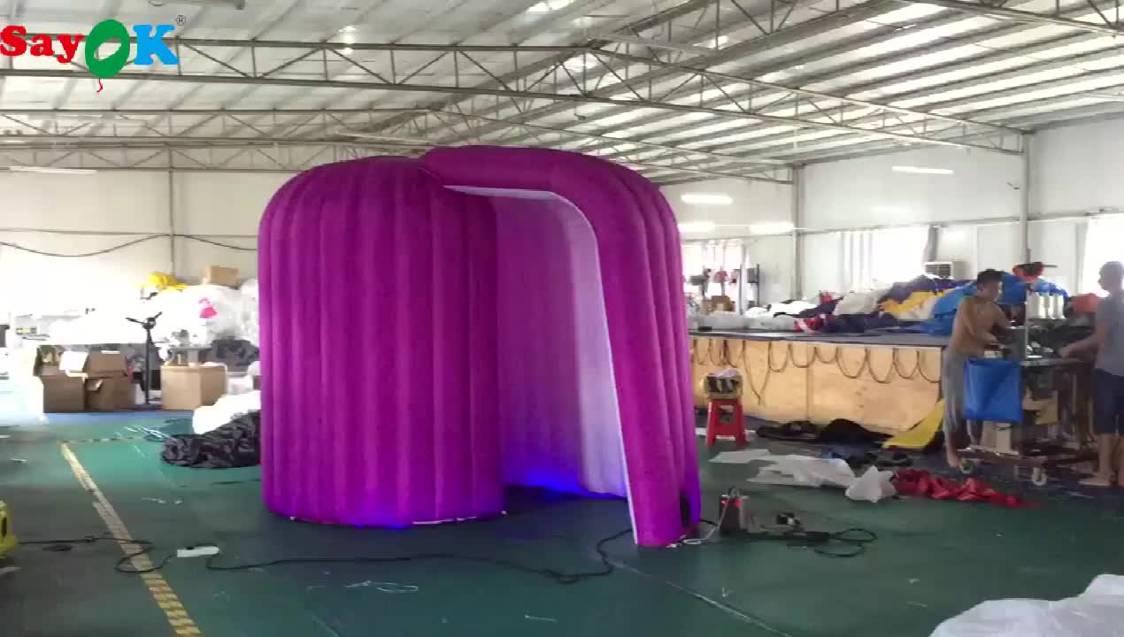hot selling snail led inflatable photo booth for sale