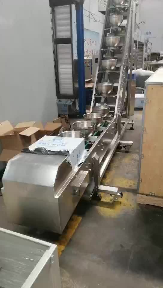 Meat  Food bowl Type Inclined Lift Hopper Elevator Conveyor