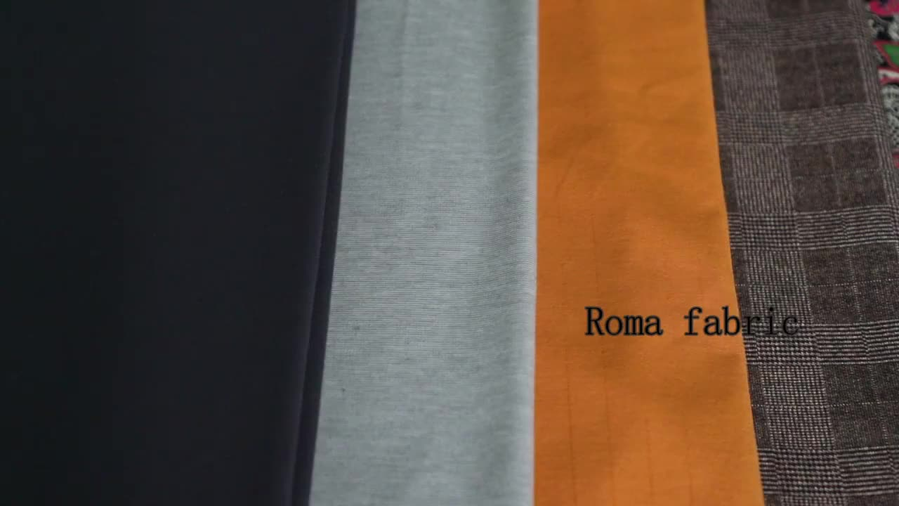 Shaoxing Textile 30S 65%R 30%N 5%SP ponti roma spandex knitted fabric for dress