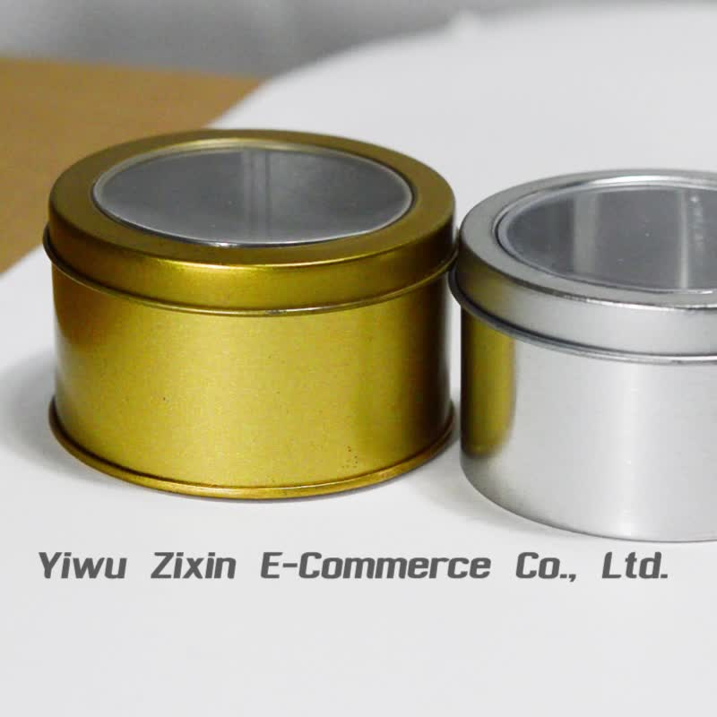 wholesale high quality colourful Round metal watch tin box