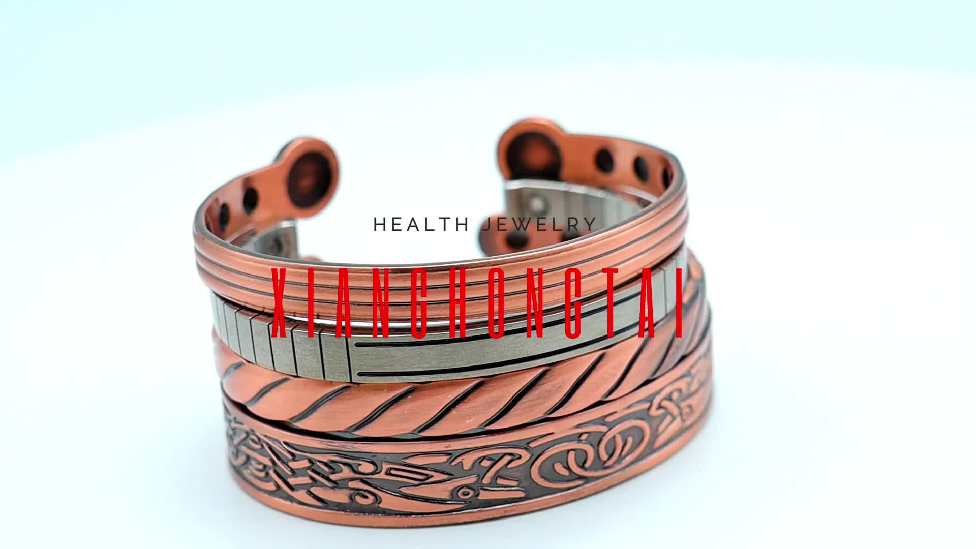 Enamel Wire Screw Love Expandable Stainless Steel Woman Bangle