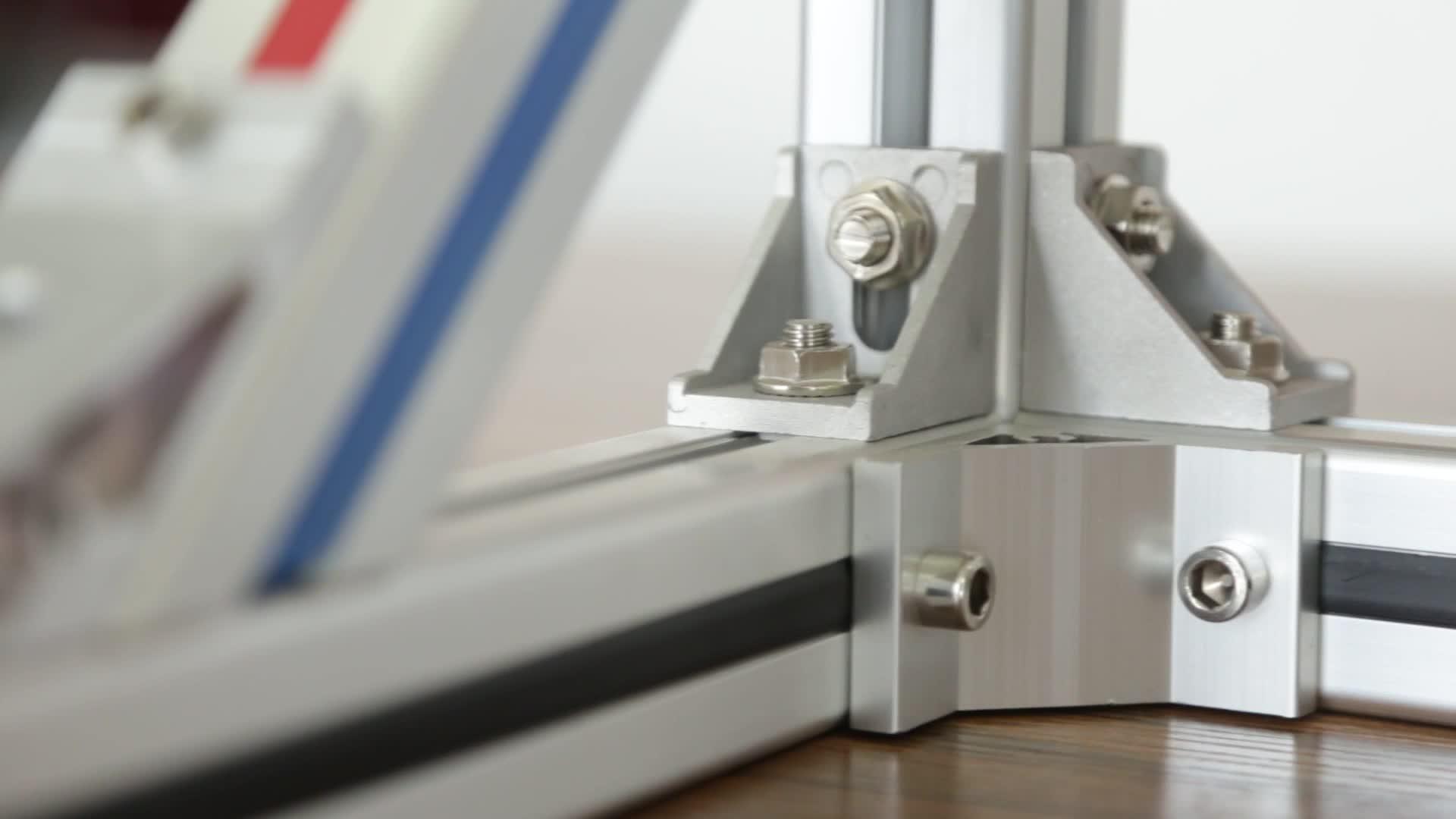 Industriel 40x40 cadre en aluminium matériel fabricant de supports t suivre v fente profilé en aluminium extrudé