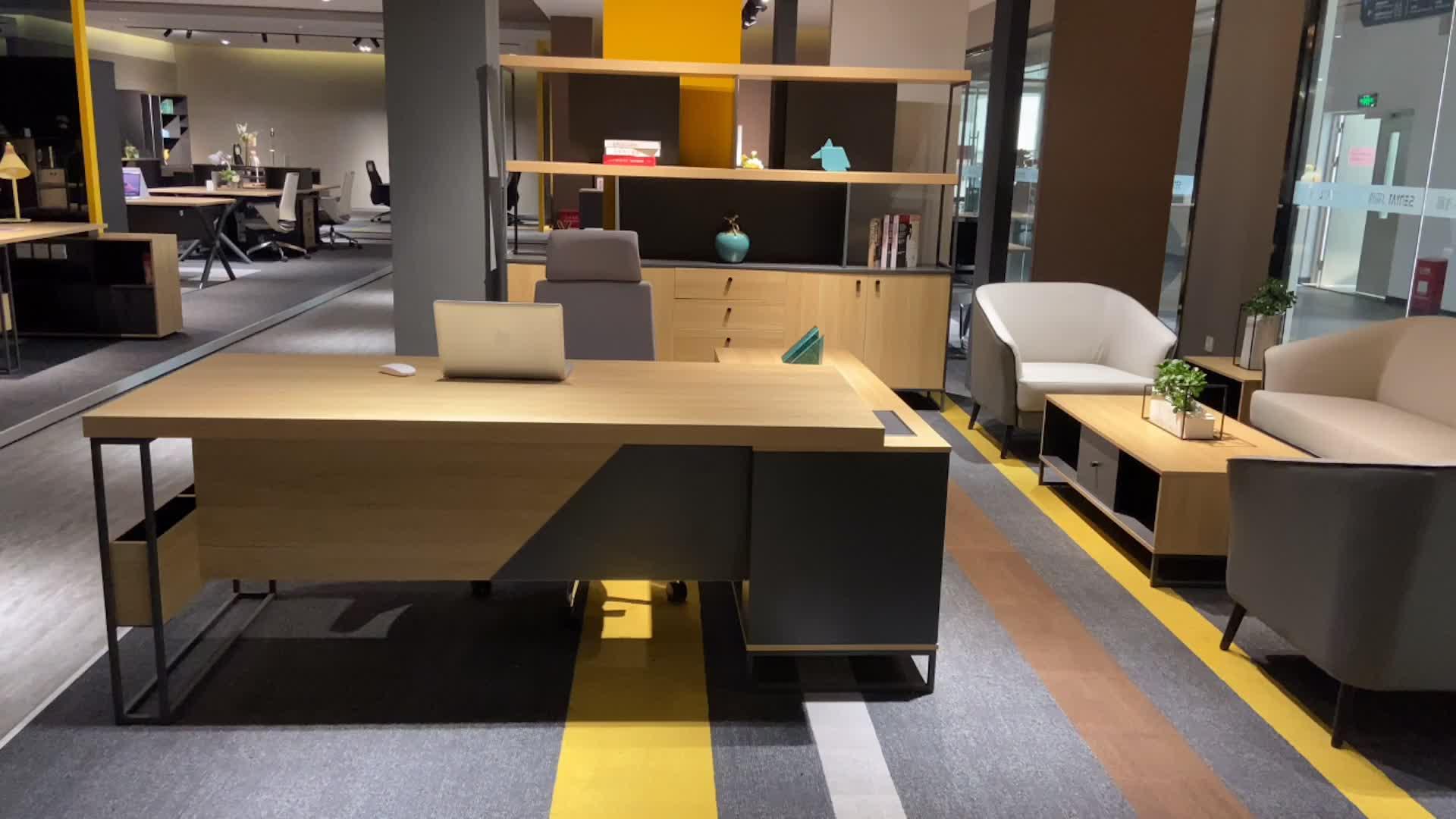Dious Исполнительный менеджер офис современная офисная мебель Исполнительный роскошный деревянный офисный стол