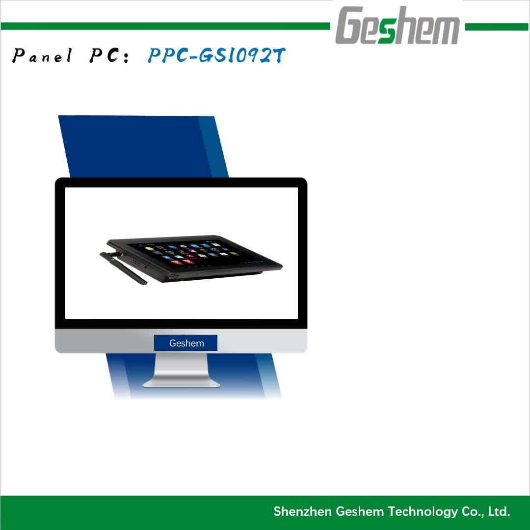 Geshem RK3288 Chipset,2*USB,2*COM,1*TF Card,1*SIM Card Slot,Wifi/BT Supportable,Fanless Single Board Industrial Rugged Panel PC