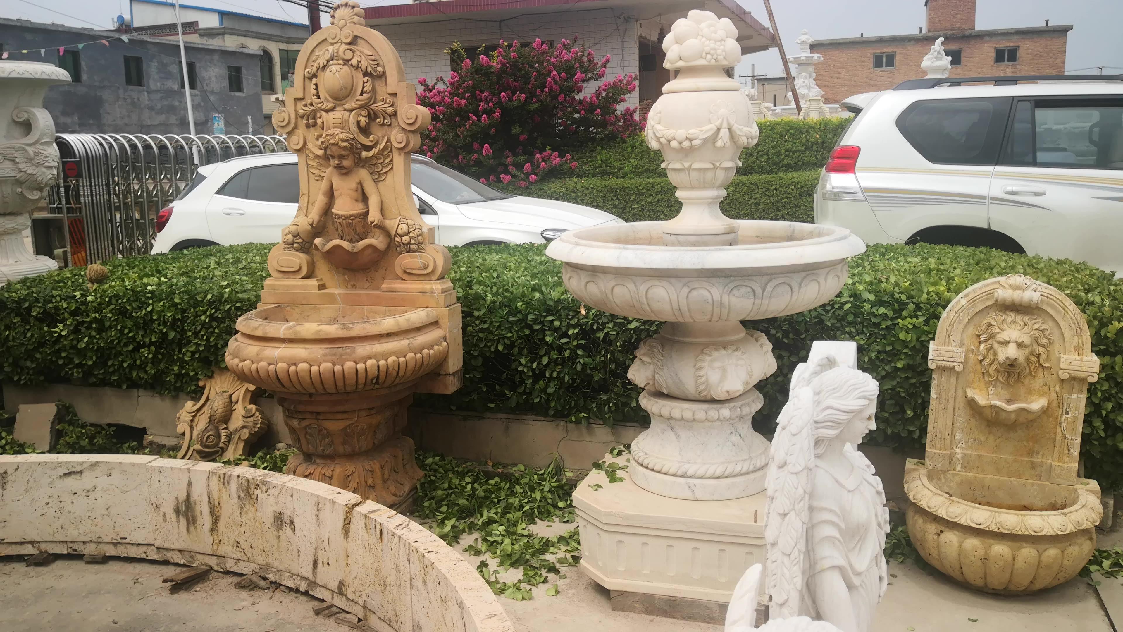Große Außen Stein Granit Dekorative Home Garten Marmor Pool 3 Tier Wasser Brunnen