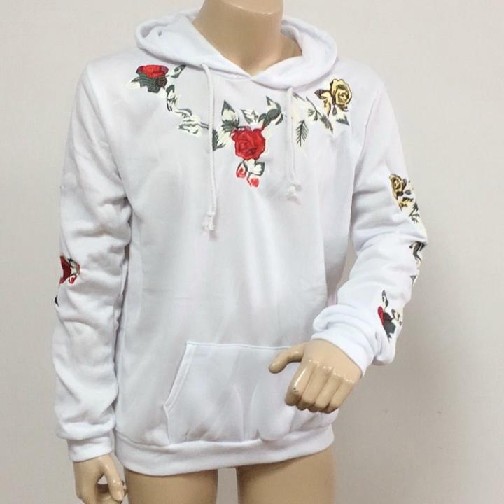 Drop Shipping Hoodies Mannen Lange Mouw Warme Trui Rose Bloemenprint Hooded Sweatshirt Mannelijke Hoodie Casual Sportswear Plus Size