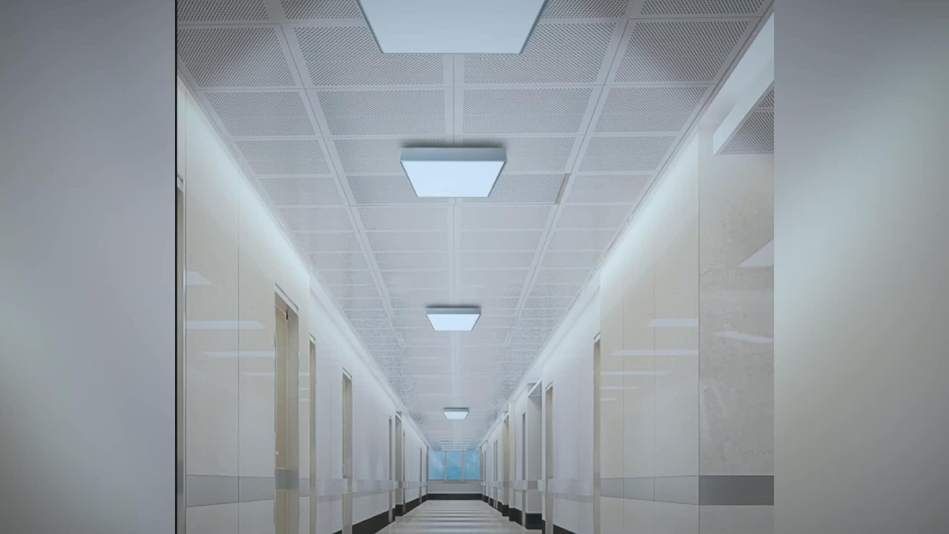 P4001 квадратный потолочный светодиодный настенный светильник с перегородкой для помещений и улицы IP65 Водонепроницаемый подвесной светильник для поверхностного монтажа