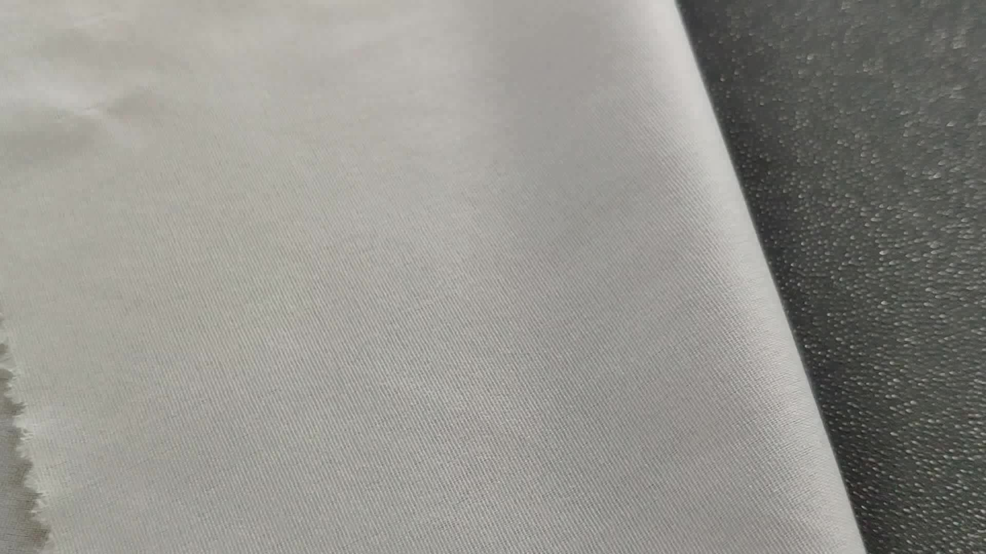 Al por mayor personalizado fusible Doble Punto de tejido liso tejido abrigo entretela