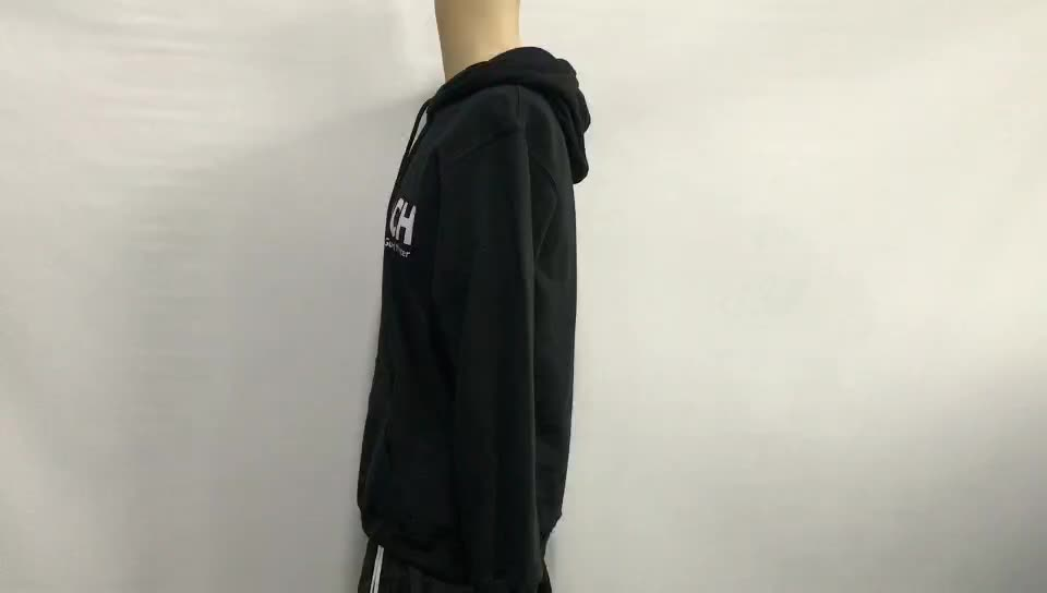 2019 Pria Fashion Polos Tebal Pullover Hoodies Logo Kustom Dicetak Bordir Pria Hoodies