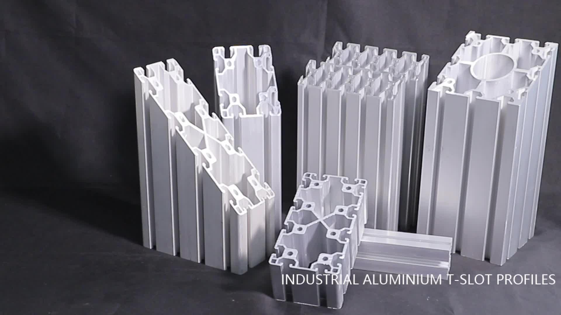 산업 알루미늄 t 슬롯 v 슬롯 중공 압출 프로파일 1515 2020 4040 4545 5050 30150 전체 dimmension
