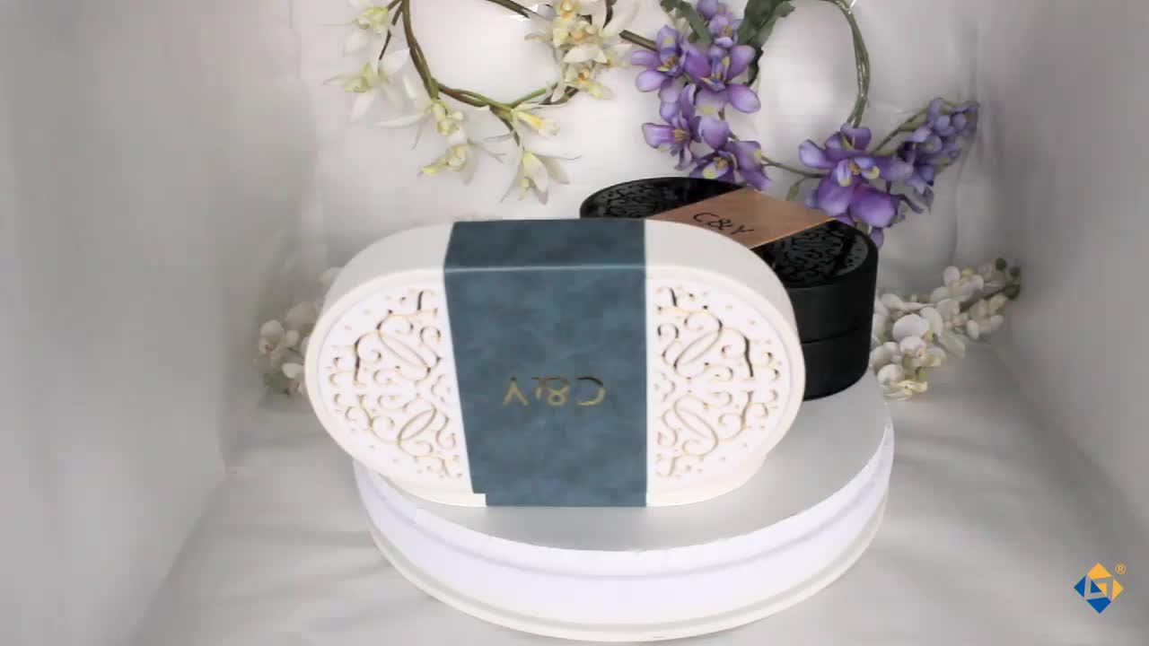 Custom Wholesale Hollow Pattern Luxury Wooden Perfume Box Packaging For Gift