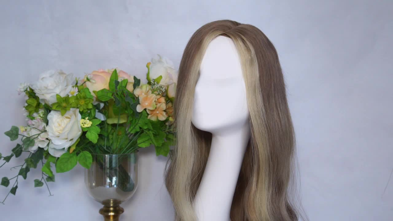 100% european virgin silk top human hair topper wefted topper Air dries straight 6x7 7x8 silk top with wefted  back