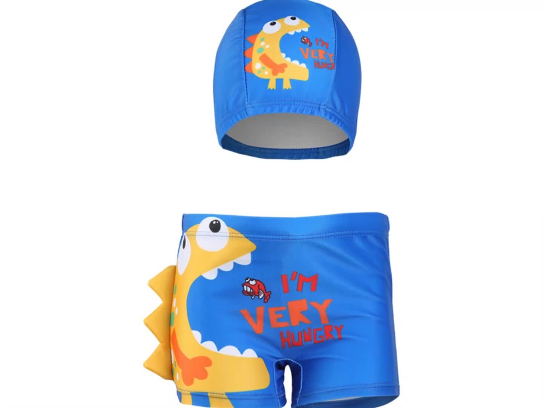 Cute  Baby Kids  Children Swimwear High Quality Custom Kids Swim Trunks With Drawstring Boy Shorts