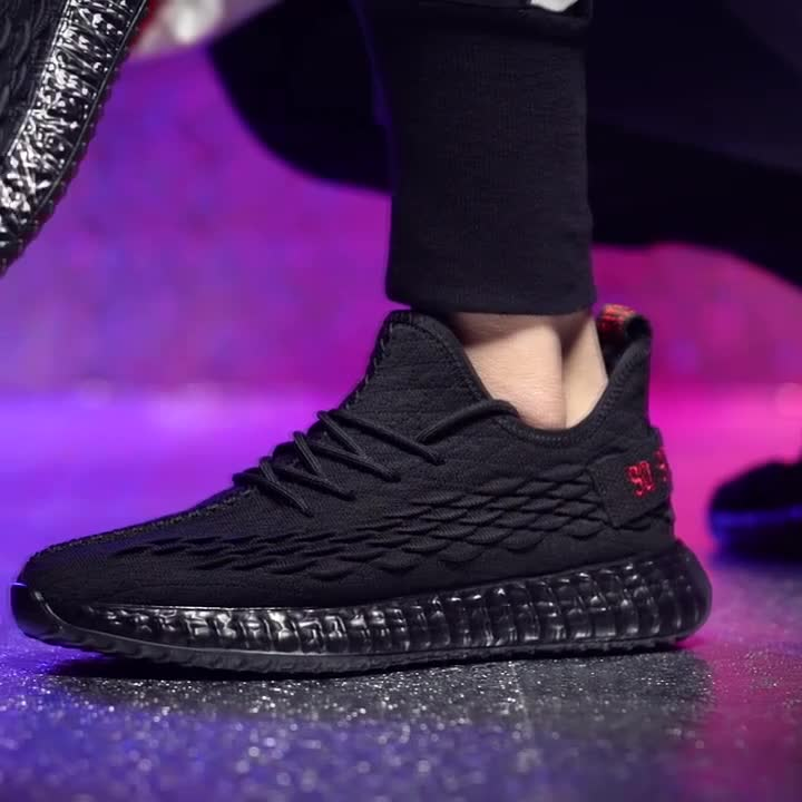 Cheap Factory Price mens sports shoes fly knitting running men's fashion sneakers
