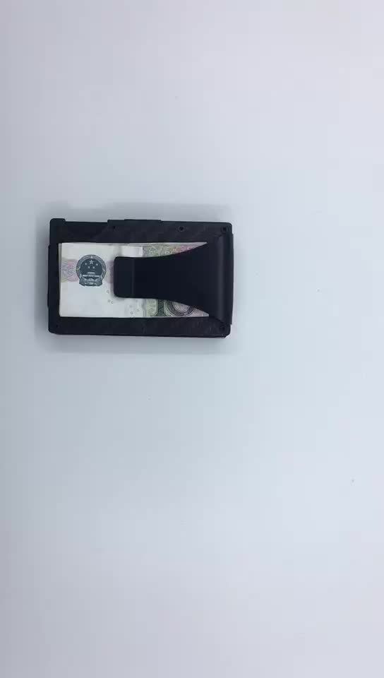 germany hot sale 3K Twill shiny or matt Anti-theft carbon sheet credit card holder wallet with removable money clip