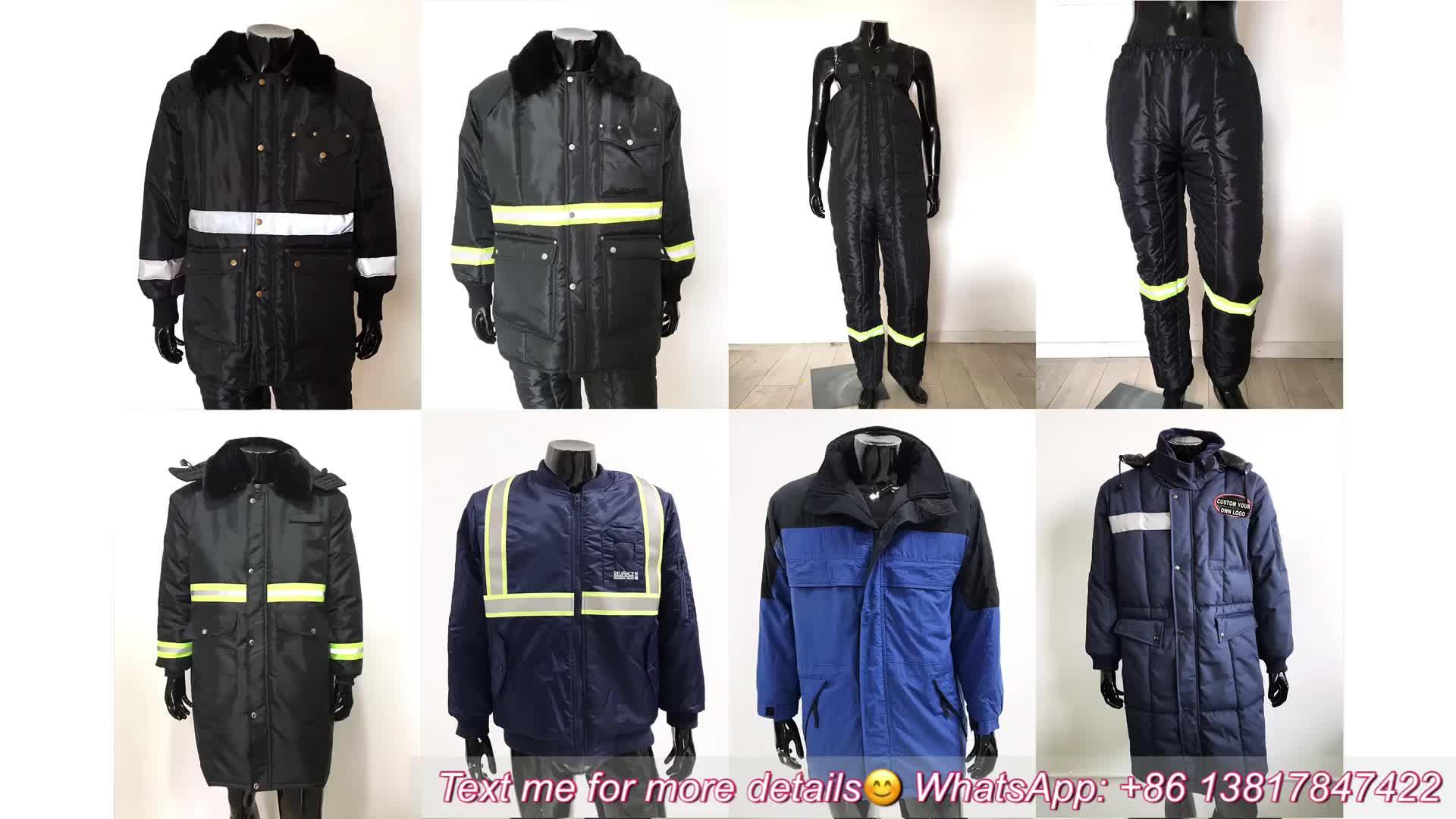 In Stock/OEM Water Resistant Reflective Winter Freezer Jacket