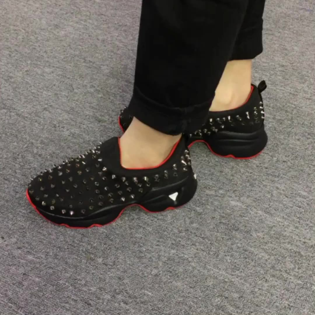 Fashion Rivet Slip-on Casual Sports Flat Shoes for women Fashion Shoes Platform Wedge Sneakers Women Shoes