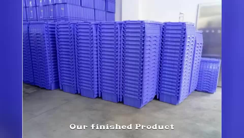 Sales Promotion Durable Four Way Entry Plastic Pallet With Wheels