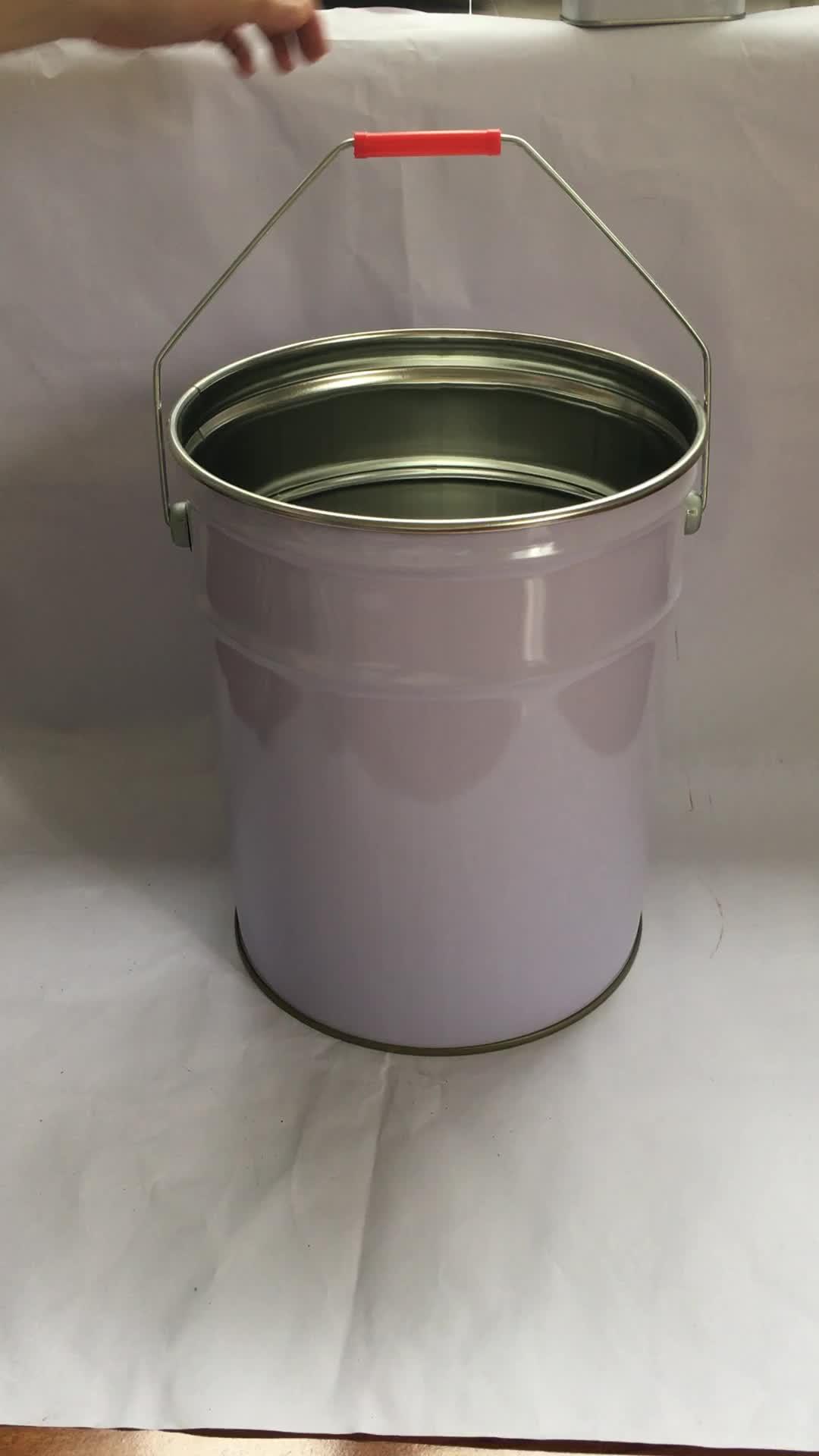 20L เหล็กวิลาดโลหะเคมีสีดีบุกถังที่มีการล็อคแหวนฝา
