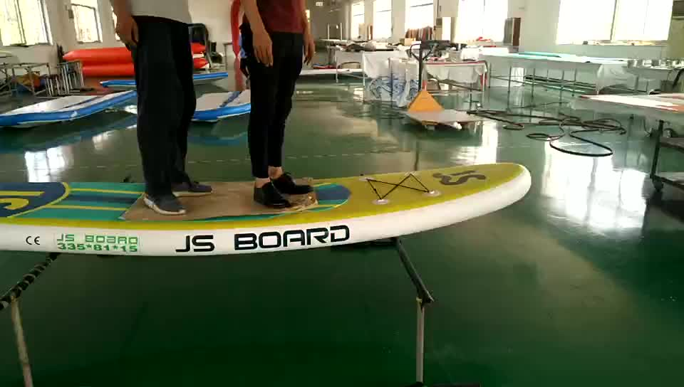 New design 305cm All-round iSUP CE Certificate Inflatable Stand up Paddle Board Cheap Single Layer SUP JS305