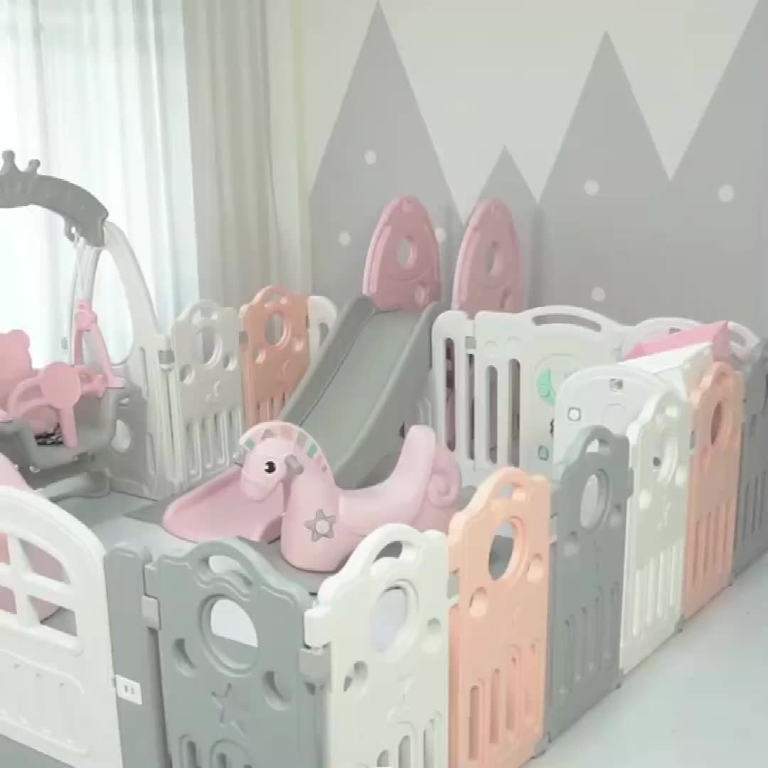 Factory price play yard playpen eco-friendly plastic fence for kids