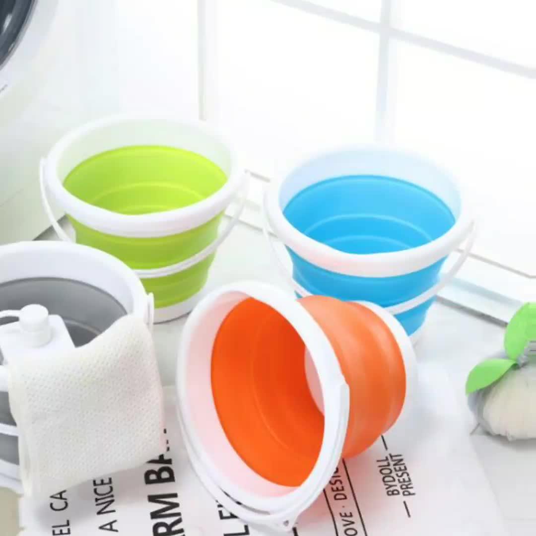 Outdoor Flexible Kunststoff Silikon Rubber Faltbare Wasser Folding Eimer