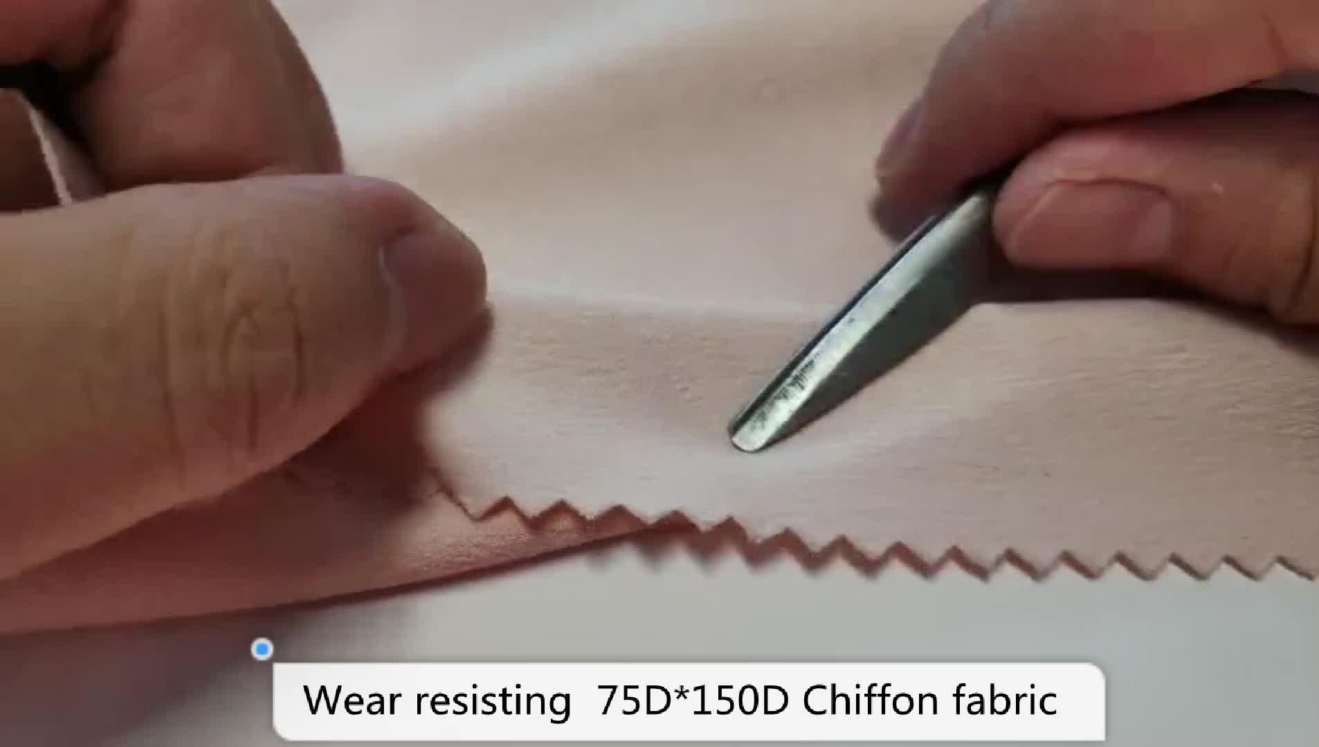 Crinkle 75D * 150D शिफॉन मुद्रित पॉलिएस्टर कपड़े सामग्री के लिए लेडी कपड़ा स्कर्ट पोशाक
