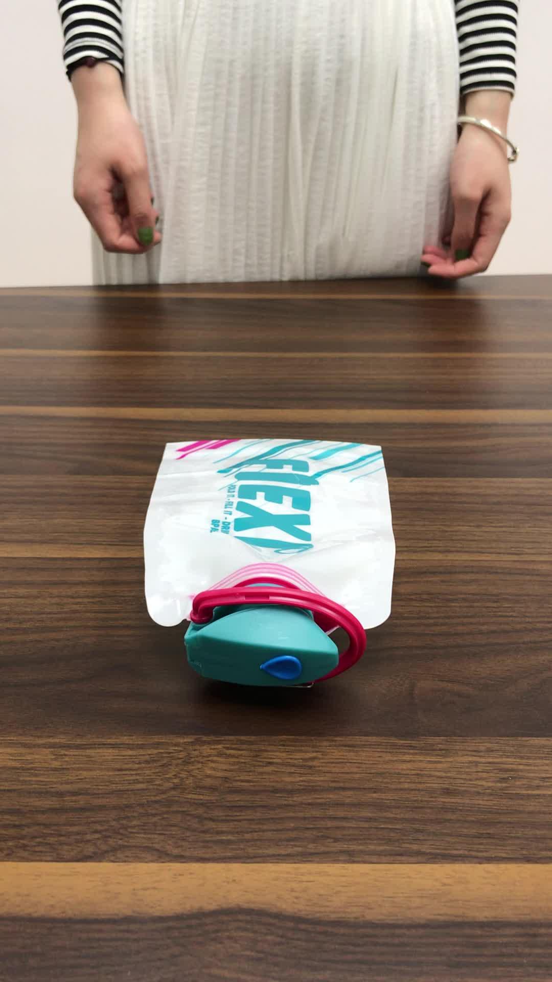Garrafas de água plásticas dobráveis personalizadas Eco-Amigáveis dobráveis