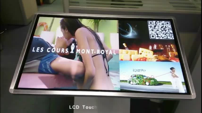 """32"""" 55"""" floor-stand touch screen information kiosk for shopping mall and exhibition showroom"""