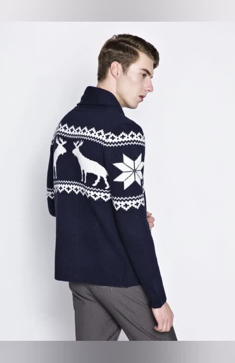 hot sale winter thick cardigan christmas sweater