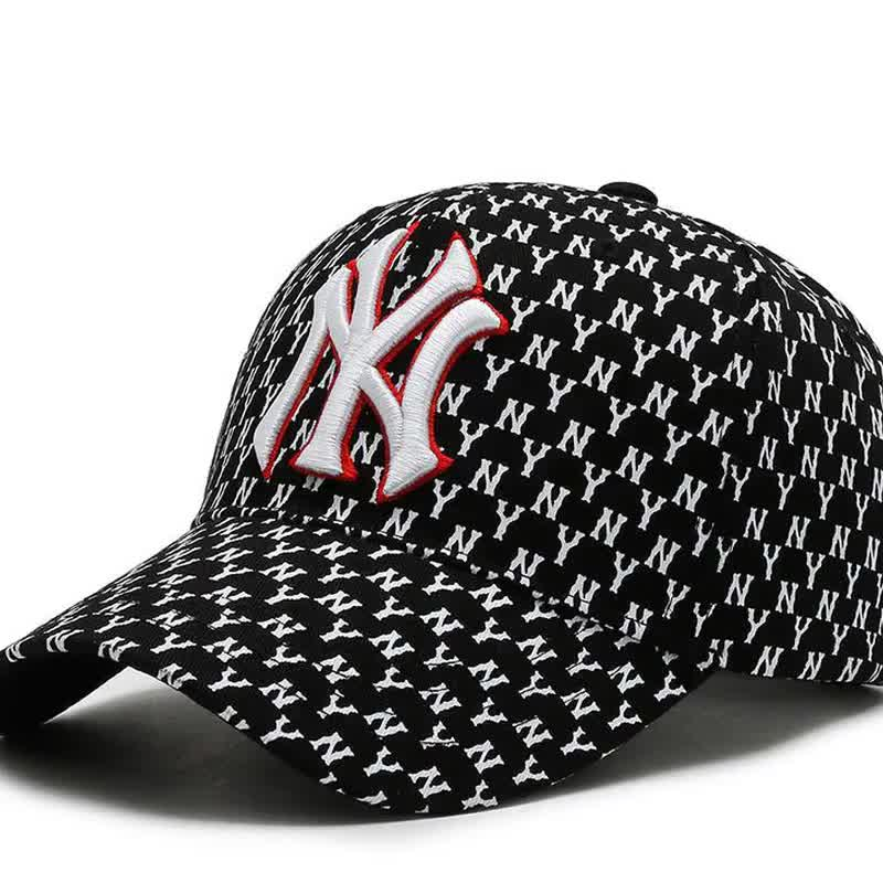 Full printed letters shade cap  baseball cap embroidered in American and European street styles