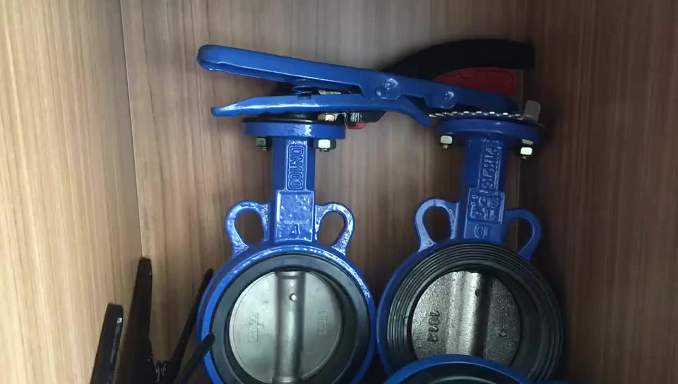 Cast Iron Soft Sealing Butterfly Valve Wafer Manual