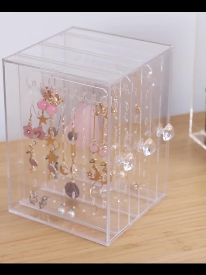 Acrylic Earrings /Necklace/ Jewelry  Display Stand Box Large-capacity Transparent Box