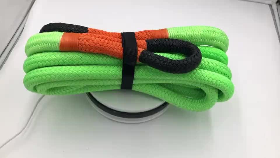Haute résistance en nylon corde de remorquage de voiture double tressé corde de récupération pour le remorquage