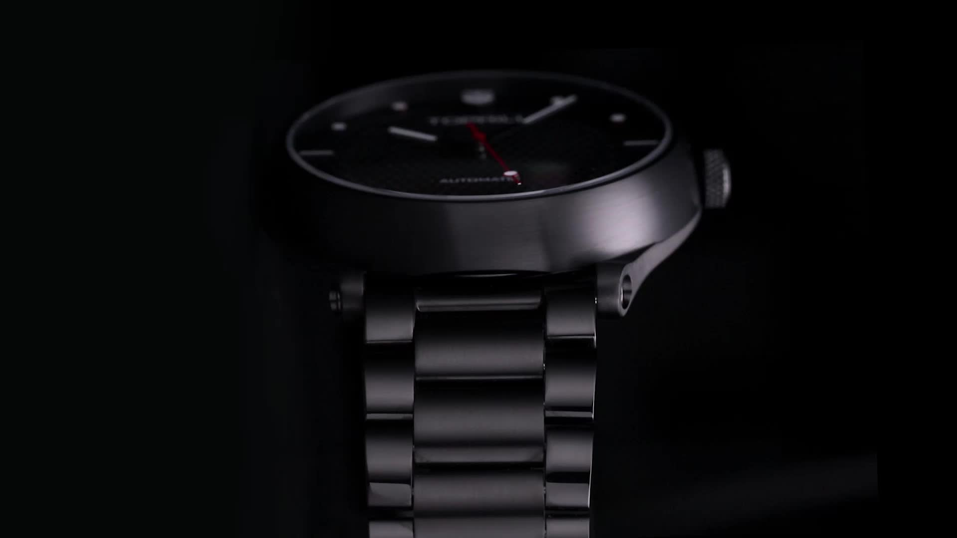 ผลิตภัณฑ์โรงงาน OEM ที่กำหนดเองยี่ห้อ Skeleton ญี่ปุ่นอัตโนมัตินาฬิกาผู้ชายประสิทธิภาพที่ยอดเยี่ยม