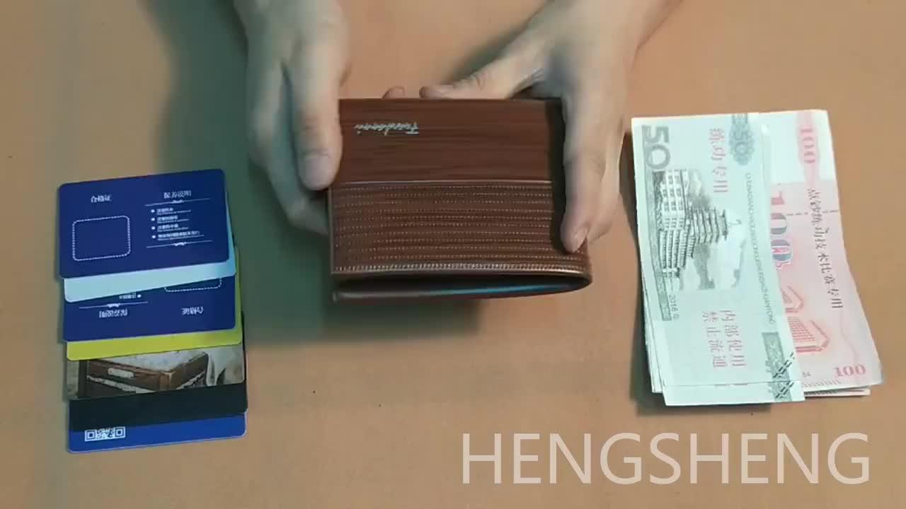 2019 アマゾンホット販売 pu レザーメンズ財布、税関革 rfid 財布男性のための