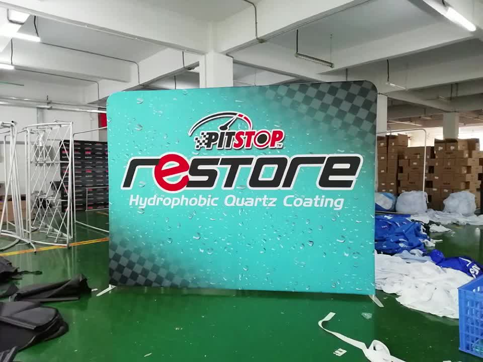 2019 Hot Produk Baru Iklan LED Tanda Dinding Pop Up Banner Display Stand
