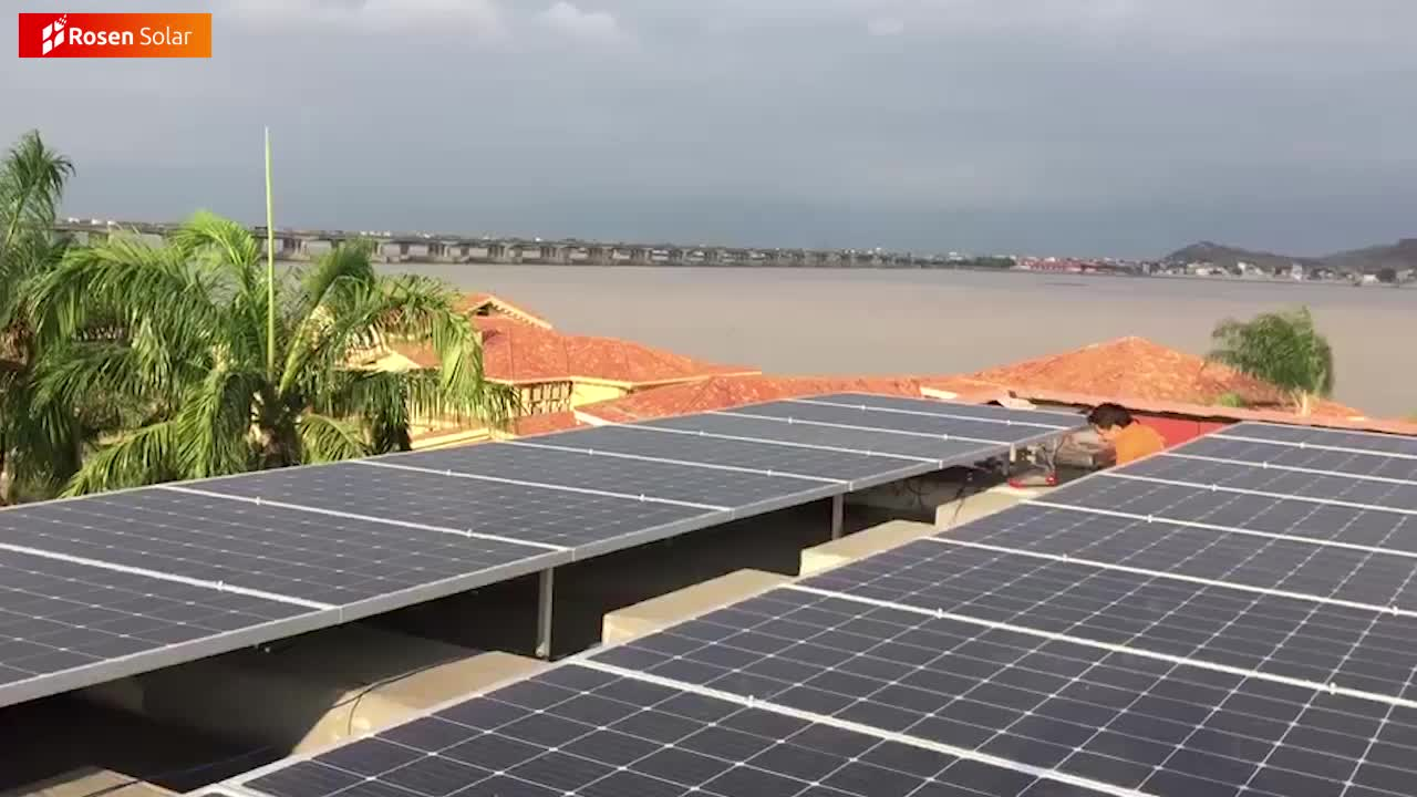 रोजेन संकर प्रणाली 5kw सौर ऊर्जा भंडारण के साथ सौर ऊर्जा प्रणाली बैटरी