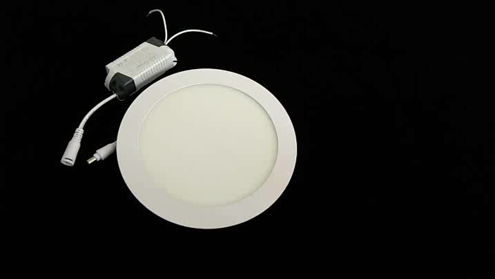 Multicolor color temperature adjustable office ceiling slim 3W 6W 12W 15W 18W 24W led round panel light