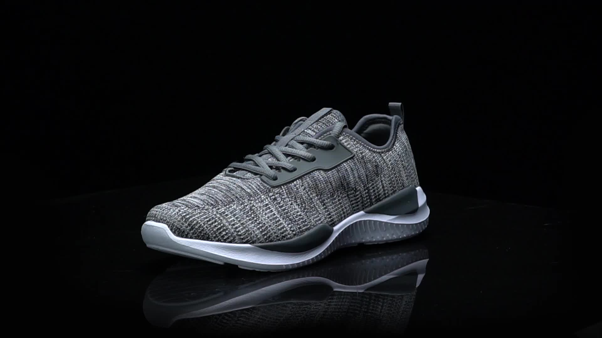 Hotsale  fashion knitting fabric sneakers for men casual sports shoes