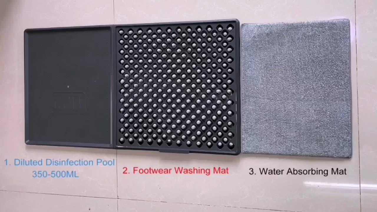 Entree Anti Slip Lade Outdoor Sanitizing Voetbad Gebied Desinfecteren Floor Mat